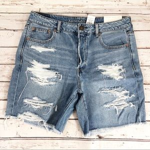 AEO Button Fly Hi Rise Tomgirl Bermuda Shorts 10